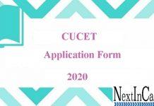 CUCET Application Form 2020