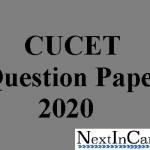 CUCET Question Paper 2020