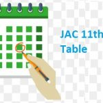 JAC 11th Time Table