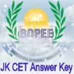 JKCET Answer Key 2020