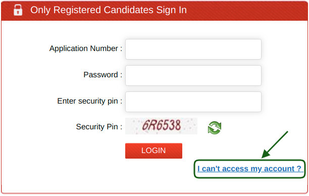 JEE Main Application Number Recover