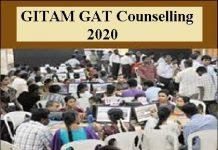 GITAM GAT Counselling 2020