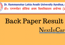 RMLAU Back Paper Result
