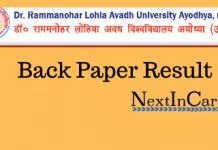 RMLAU Back Paper Result