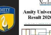 Amity University Result 2020
