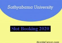 Sathyabama University Slot Booking 2020