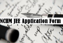 NCHM JEE Application Form
