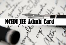 NCHM JEE Admit Card