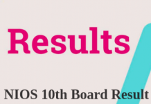 NIOS 10th Board Result