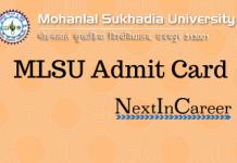 MLSU Admit Card