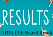 NIOS 12th BOARD Result