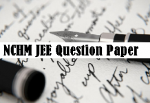 NCHM JEE Question Paper