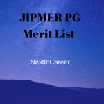 JIPMER PG Merit List