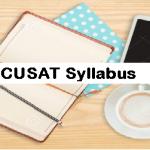 CUSAT Syllabus