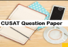 CUSAT Question Paper