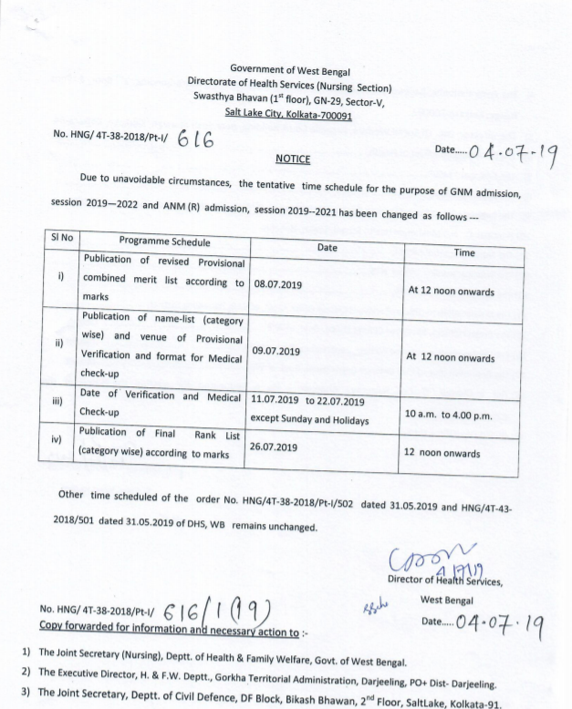 wb gnm and anm revised schedule 2019