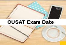 CUSAT Exam Date