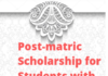 Post-matric Scholarship for Students with Disabilities