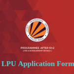 LPU APPLICATION FORM