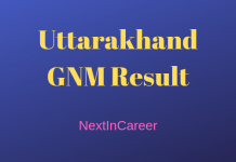 Uttarakhand GNM Result