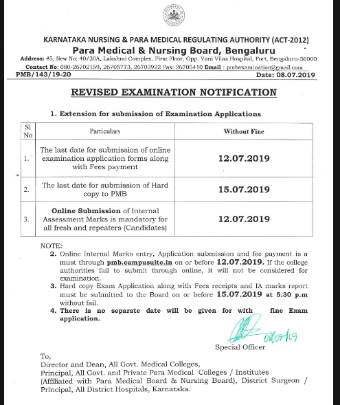 Paramedical Form 2019 Date: Apply online Paramedical