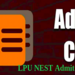 LPU NEST ADMIT CARD