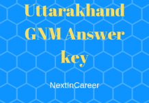 Uttarakhand GNM Answer key