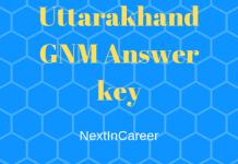 Uttarakhand GNM Answer key