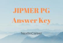 JIPMER PG Answer Key