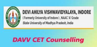 DAVV CET Counselling