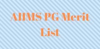AIIMS PG Merit List