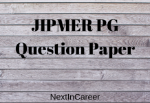 JIPMER PG Question Paper