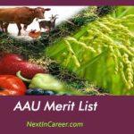 AAU Merit List