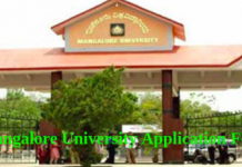 Mangalore University Application Form