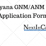 Haryana GNM/ANM Application Form