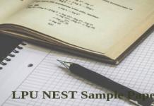 LPU NEST SAMPLE PAPER
