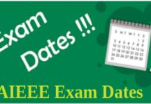 AIEEE Exam Dates