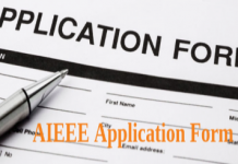 AIEEE Application Form