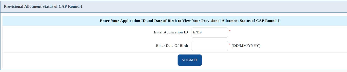 MHT CET Provisional Allotment Status of CAP Round-I