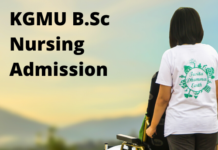 KGMU B.Sc Nursing Admission