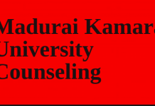 Madurai Kamaraj University Counselling