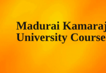 Madurai Kamaraj University Courses