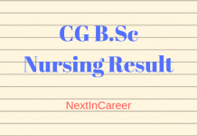 CG B.Sc Nursing Result