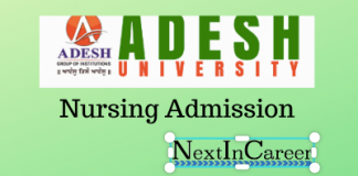 Adesh University Nursing Admission