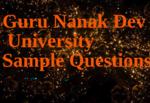 Guru Nanak University Question Paper