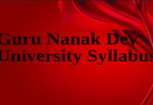 Guru Nanak Dev University Syllabus