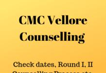 CMC Vellore Counselling