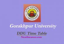 DDU Time Table
