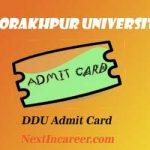 DDU Admit Card