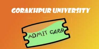 DDU Admit Card